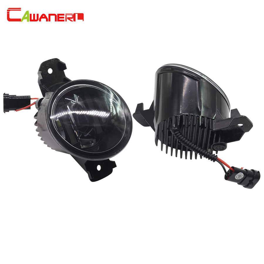 Cawanerl 2 Pieces Car Styling Fog Light LED Daytime Running Lamp DRL 12V White For 2010-2015 Opel Vauxhall Movano cawanerl for toyota highlander 2008 2012 car styling left right fog light led drl daytime running lamp white 12v 2 pieces