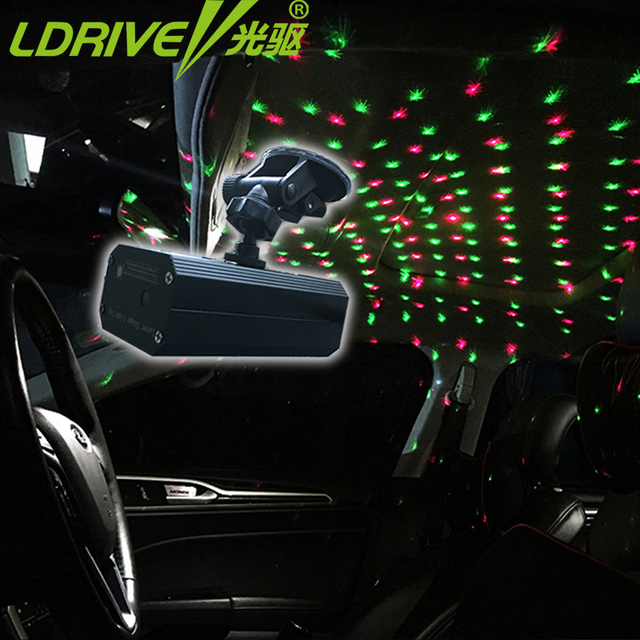 V Romantic Laser Projector Car DJ Lighting Light Dance Disco Voice - Car laser light show