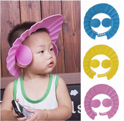 Hot Adjustable Wash Head Hair Waterproof Cap Baby Kids Soft Shampoo Bath Shower Cap Hat Wash Hair Shield Cap Hat Eye Protector
