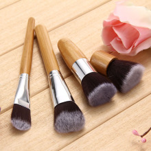 4pcs Authentic Bamboo Handle Brushes Makeup Flat Brushes Cosmetics Professional Makeup Brush Set Hairbrush