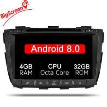 Android 8,0 4 + 32 ГБ Автомобильный gps для kia Sorento 2013 2014 dvd Автомобильный dvd gps плеер 2 din Автомобильный стереоплеер gps навигация Радио стерео