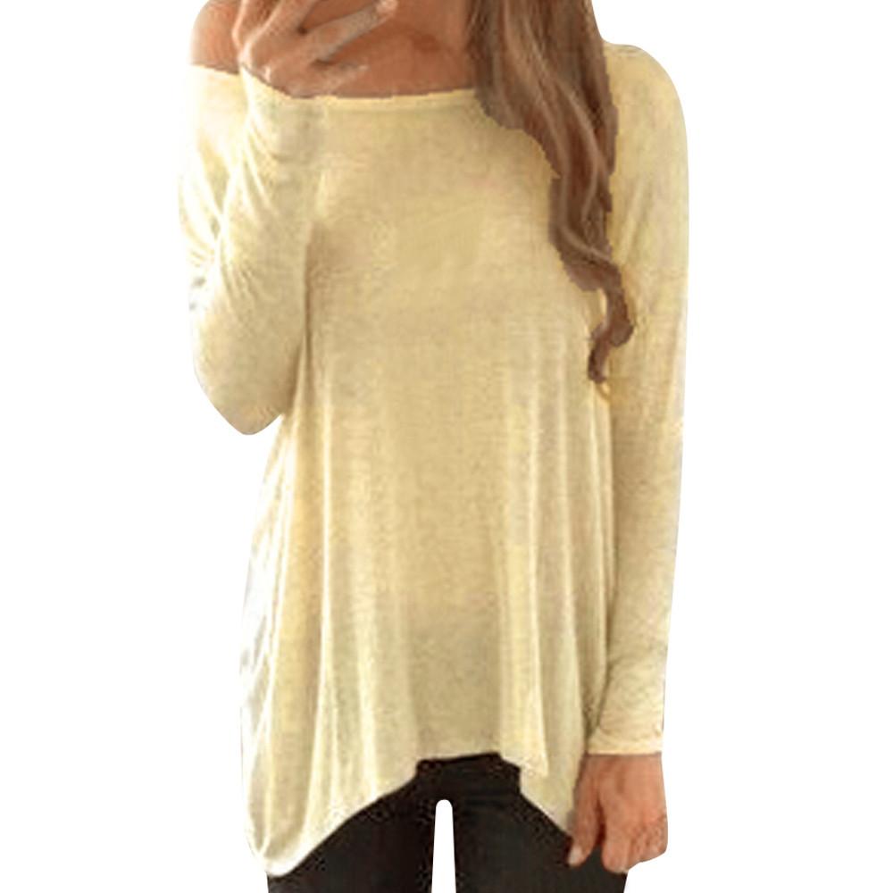 Fashion Brand Strapless Blouses Women Long Sleeve Slash Neck Solid streetwear Loose Casual Blouse Shirt modis Tops Drop Shipping