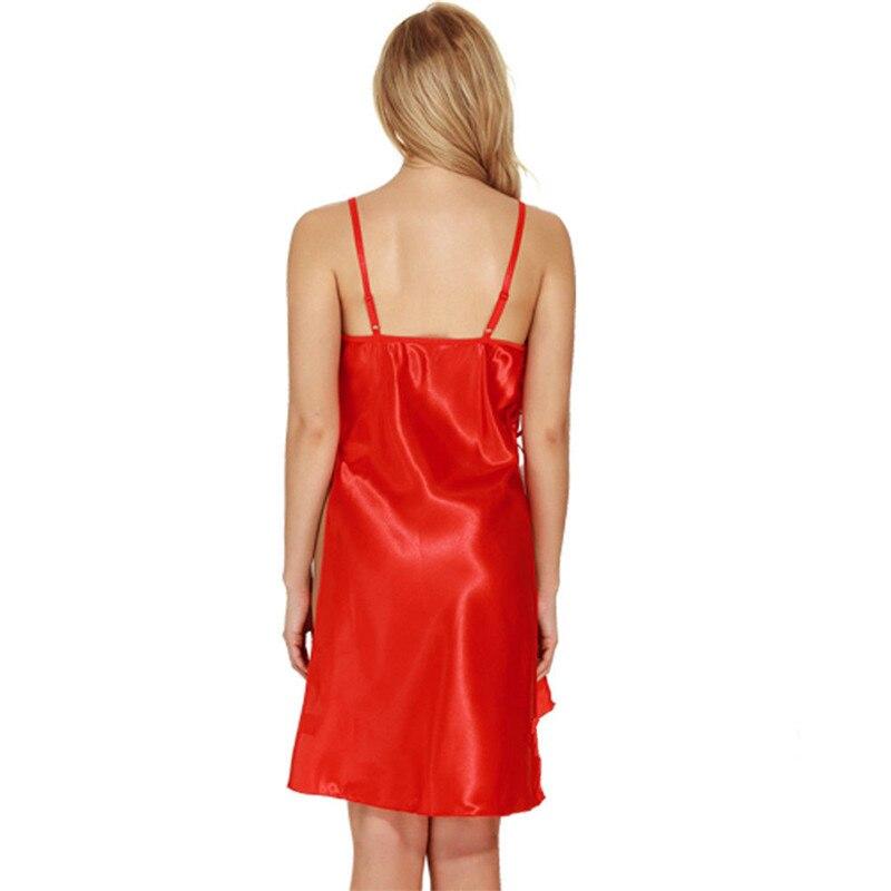 04e89eddc5 2018 Xmas New Women Sexy V Neck Nightdress Satin Lace Kimono Sleepwear  Lingerie Dress Gown Robe Sexy Lace Sleepwear Plus Size-in Nightgowns    Sleepshirts ...