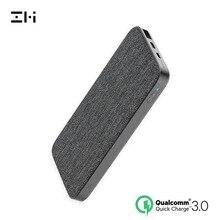 ZMI QB910 10000 мАч двусторонний мобильный источник питания, Модернизированная версия, быстрая зарядка, ткань, два порта, концентратор питания, защита безопасности