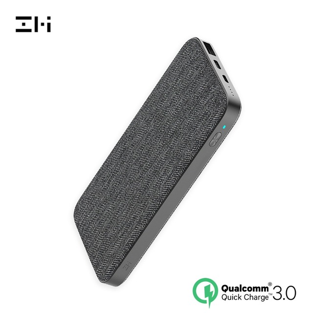 ZMI QB910 10000mAh two-way mobile power supply upgraded version FastCharging Fabric dual port hub powerbank security protection