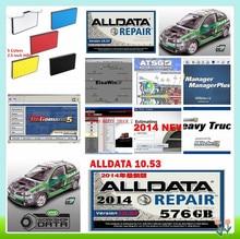 2019 ALLDATA жесткий диск авто ремонт программного обеспечения все данные v10.53 + Митчелл, по заказу 2015 + яркая мастерская + Elsawin + atsg usb3 26in1TB hdd
