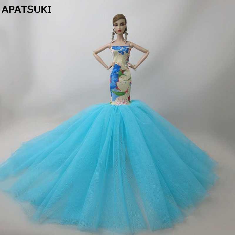 6 шт./лот модная Русалка Одежда для куклы Барби рыбий хвост свадебное платье для Барби кукольный домик ручной работы Ограниченная Коллекция