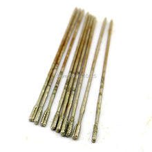 10Pcs 1.8 mm Diamond Coated Lapidary Drill Hole Needle Solid Bits 2# for Jewelry Agate