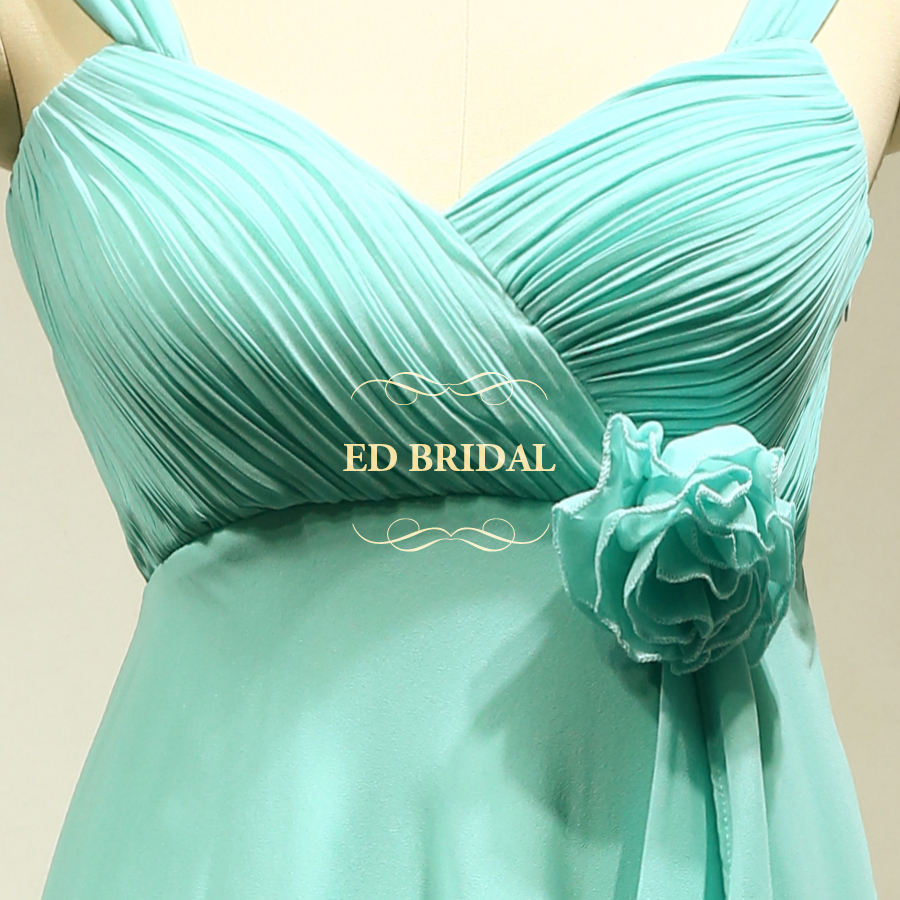 Custom Made Chiffon Mint Green Maternity Short Bridesmaid Dresses ...