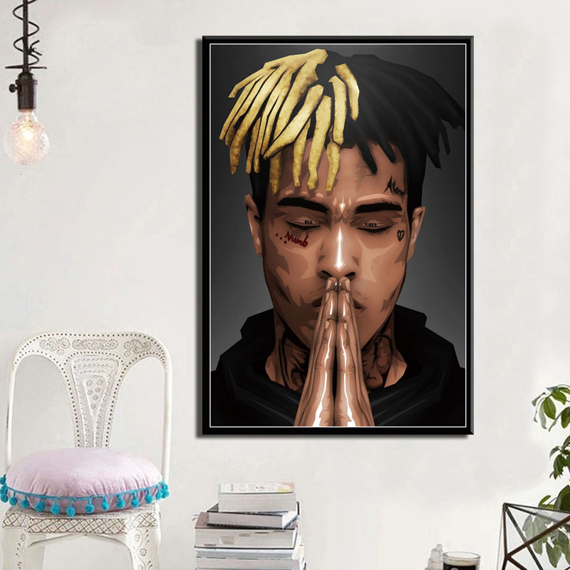 Modular Home Decoration Wall Art HD Printed Pictures XXXtentacion Rapper Canvas Painting Nordic Modern Poster For Living Room