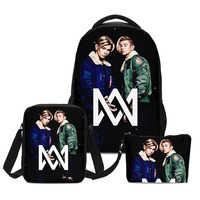 Fashion Marcus And Martinus Designer Boys School Shoulder Bag Girls Bookbag Pen Case Children Backpack 3pc Set Mochila Escolares