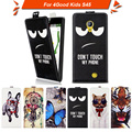 High quality fashion cartoon pattern flip up and down leather case for 4Good Kids S45,Free gift