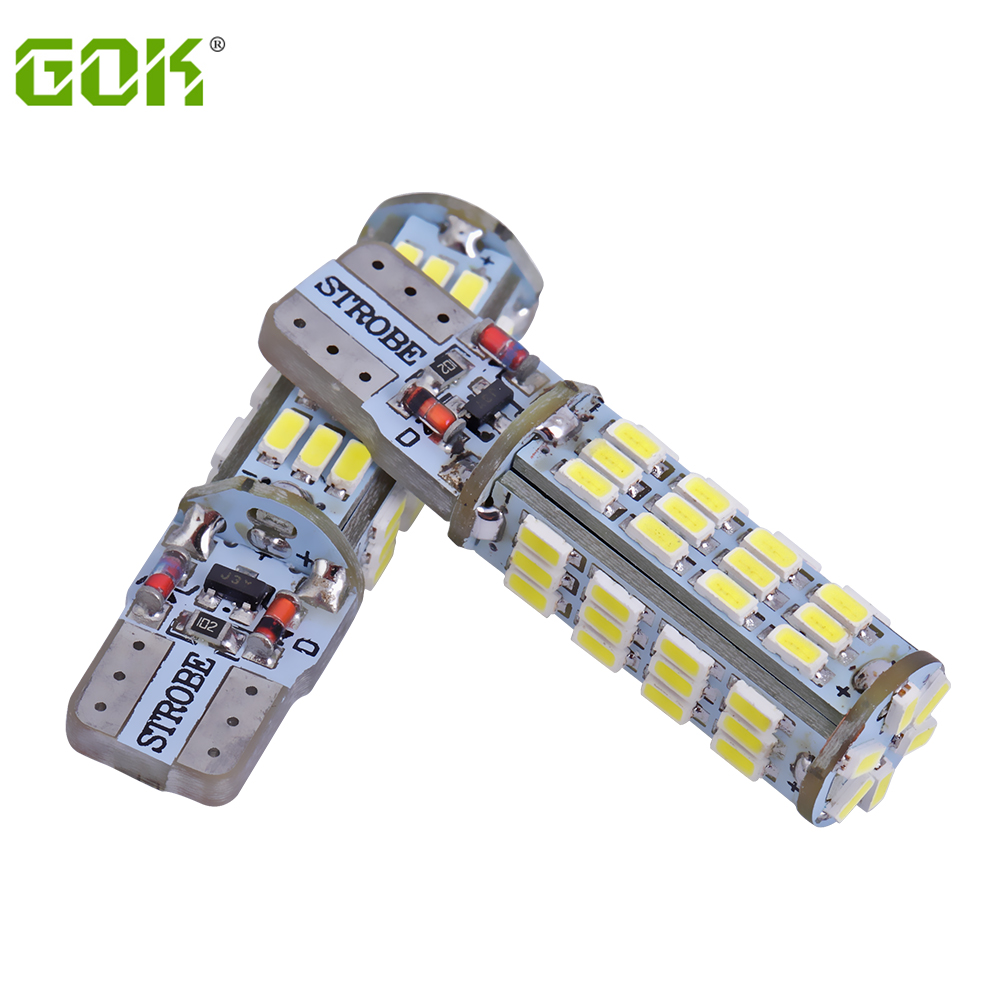 10PCS/LOT T10 led strobe high quality Strobe flash w5w LED 54smd t10 54led 3014 smd car led Light Bulbs wholesale free shipping