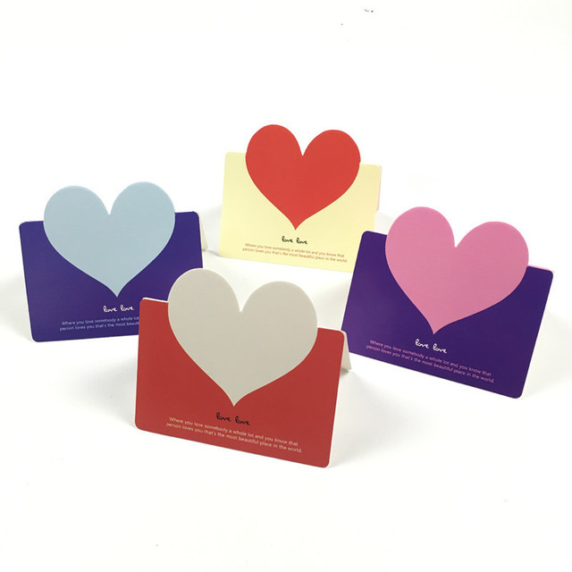 10pcs set creative diy handmade love vintage kraft paper folding
