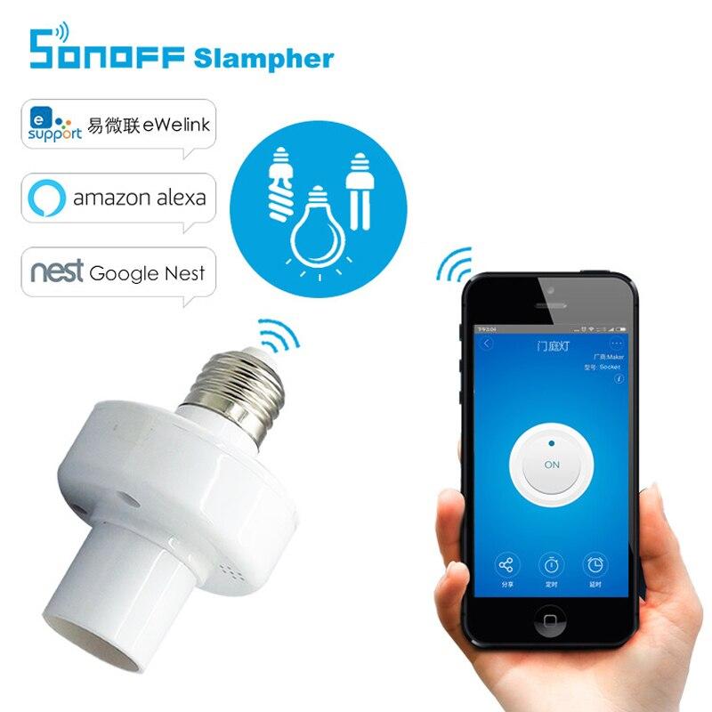 Best buy ) }}New ITEAD Sonoff E27 WiFi light bulbs holder Slampher