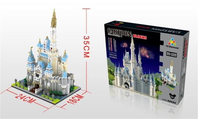 YZ Bloques Diamond 3D World Famous Building 4708 unids Ladrillos De Plástico Minnie Castillo Subasta Figura Juguetes Niños Juguetes de Regalo 66519