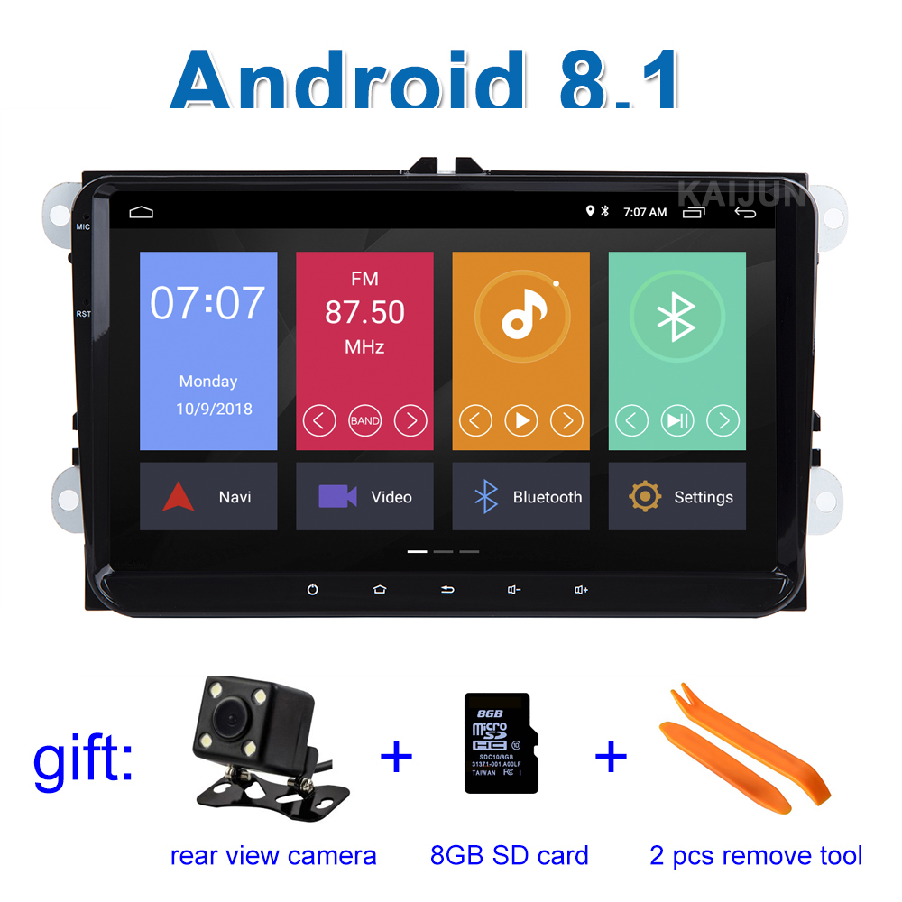 цена на 9 Android 8.1 Car DVD Stereo Radio GPS for VW PASSAT CC Jetta Golf 5 6 Tiguan polo Leon Toledo Touran Caddy EOS Sharan