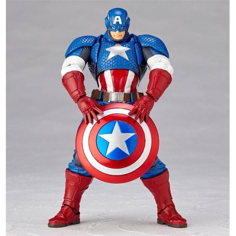 Revoltech Amazing Red Venom Carnage Amazing Captain America Spiderman Magneto Wolverine X-men Action Figures Toy Doll (8)