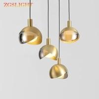 Nordic Ontwerp Rose Goud Glas Bal Hanglamp Creative Design Gangpad Woonkamer Nachtkastje Diner Decro Led Verlichtingsarmaturen