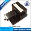 New A4 size printer for Automatic phone case PVC card flatbed printer on hot sales