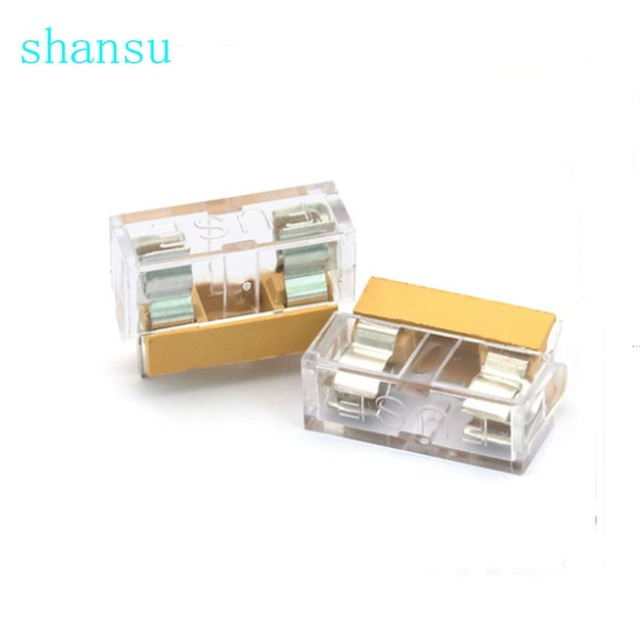 10pcs/lot 5*20mm 5x20mm fuse holder with transparent cover free shipping