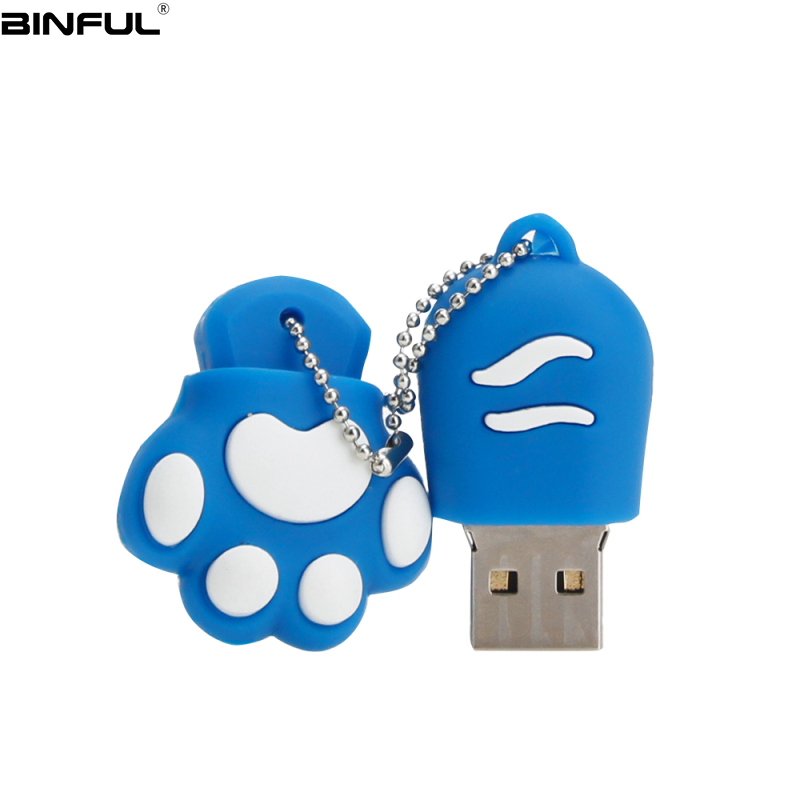 Image 5 - Hot Sale Cat Paw Usb Flash Drive 32GB 64GB 128GB Pendrive 4G 8GB 16GB Lovely Cartoon Pen Drive High Quality Silicone Memoria Usb-in USB Flash Drives from Computer & Office