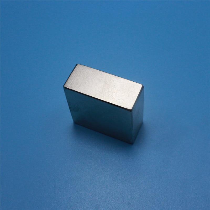 Купить с кэшбэком 1PCS block 40x40x20mm N45 N52 Super Powerful Strong Rare Earth Block NdFeB Magnet Neodymium N52 Magnets 40*40*20mm