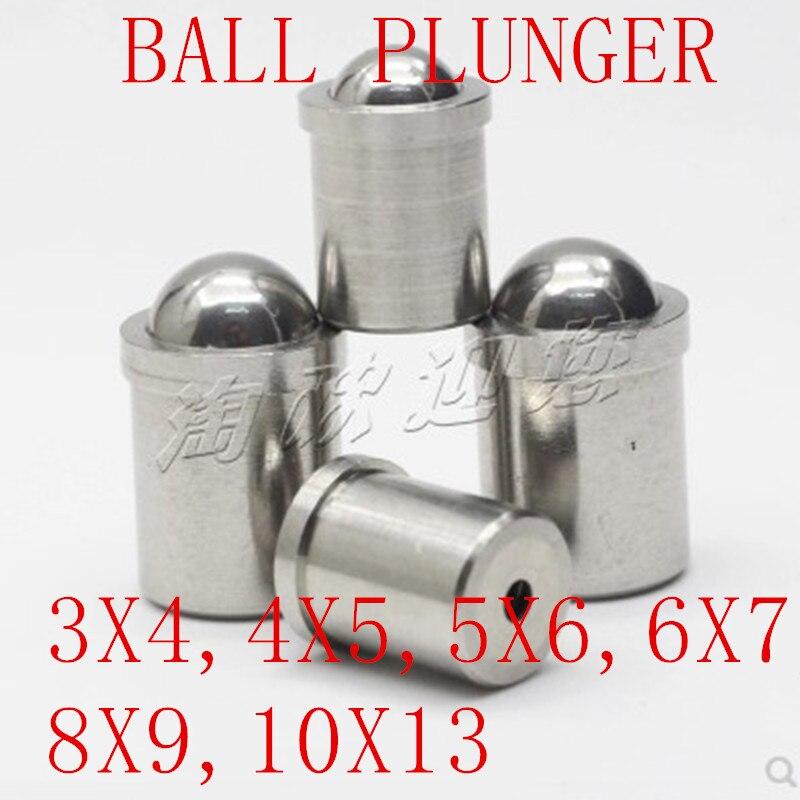 10 Stücke 5 Stücke M3 M4 M5 M6 M8 Glatte Körper Edelstahl Ball Plunger Push-fit Ball Frühling Plunger