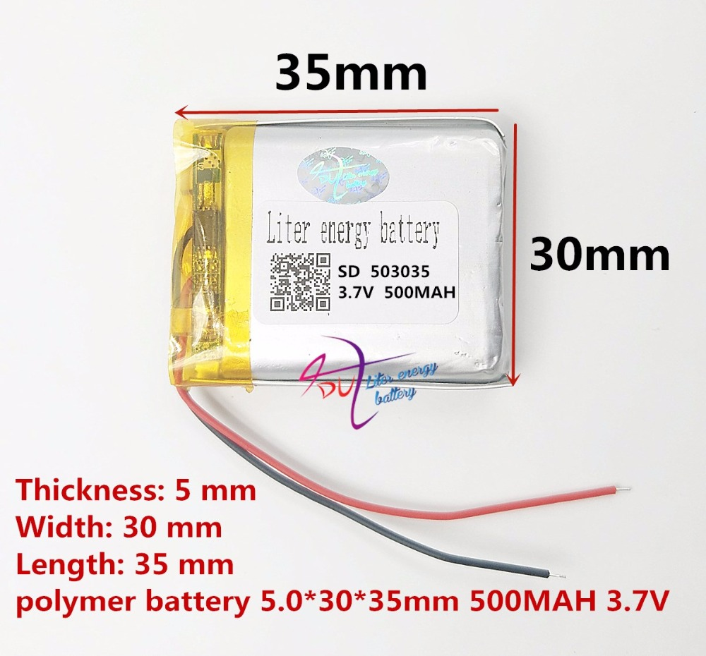 (free shipping) 3.7V Battery 053035 500mah lithium-ion polymer battery quality goods of CE FCC ROHS certification authority(free shipping) 3.7V Battery 053035 500mah lithium-ion polymer battery quality goods of CE FCC ROHS certification authority