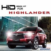 For Toyota Highlander 55W Ultra Fast Bright HID headlight kit, full digital waterproof free shipping
