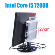 HYSTOU FMP03 Core i5 7200U Win10 pro Suporte HDMI VGA Dupla Afixação Mini-pc Micro Computador de Jogos WI-FI ULHD 4 K Desktop Fanless