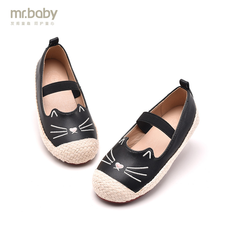 Mr.baby original childrens shoes 2018 spring cute cartoon cat girls casual shoes