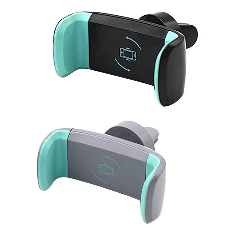 Professional Black Gray ABS Car Mobile Phone Holder Navigation Bracket 360 Degree Free Rotating Stretch