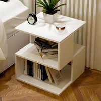 Simple Bedroom Nightstand Living Room Sofa Side Table Tea Table Mini Removable Small Coffee Table Home Furniture