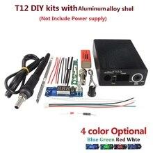 Электрический блок Цифровой паяльник станция контроллер температуры наборы для HAKKO T12 Ручка DIY наборы СВЕТОДИОДНЫЙ Переключатель вибрации