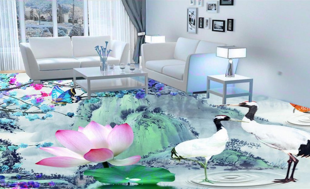 3d flooring custom papel de parede floor soundproofing Retro ink style pvc self adhesive wallpaper 3d floor for living room beibehang walking cloud 3d floor tile tile customization large fresco pvc thick wear resistant floor cover papel de parede