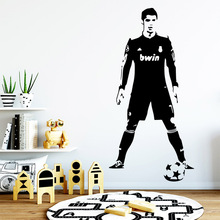 цена на Cartoon football player Wall Sticker Removable Wall Stickers Diy Wallpaper For Baby's Rooms Decoration Accessories