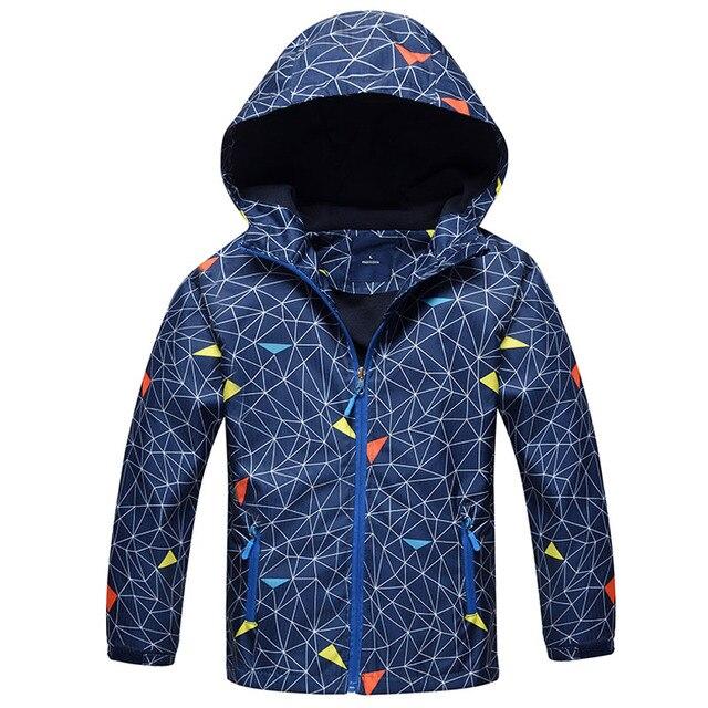 Для мальчиков верхняя одежда Пальто для будущих мам Новый 2018 Весенняя мода Водонепроницаемый ветрозащитная куртка с капюшоном для От 3 до 12 лет Обувь для мальчиков бренд Детская спортивная одежда