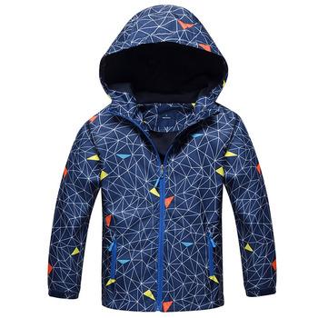 Dzieci chłopcy Outwear płaszcze nowy 2018 wiosna moda wodoodporna wiatroszczelna kurtki z kapturem dla 3-12Y Boys Brand dzieci Sport Odzież tanie i dobre opinie Odzież wierzchnia i Płaszcze Aktywne Pełne Hooded Poliester bawełna 01-6192 Paisley Wełniane picemice Pasuje do rozmiaru Weź swój normalny rozmiar