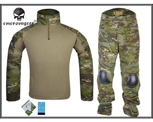 Emersongear G2 Combat Shirt Pants Military BDU Airsoft Tactical Gear Paintball Hunting Uniform BDU Emerson Multi cam TP