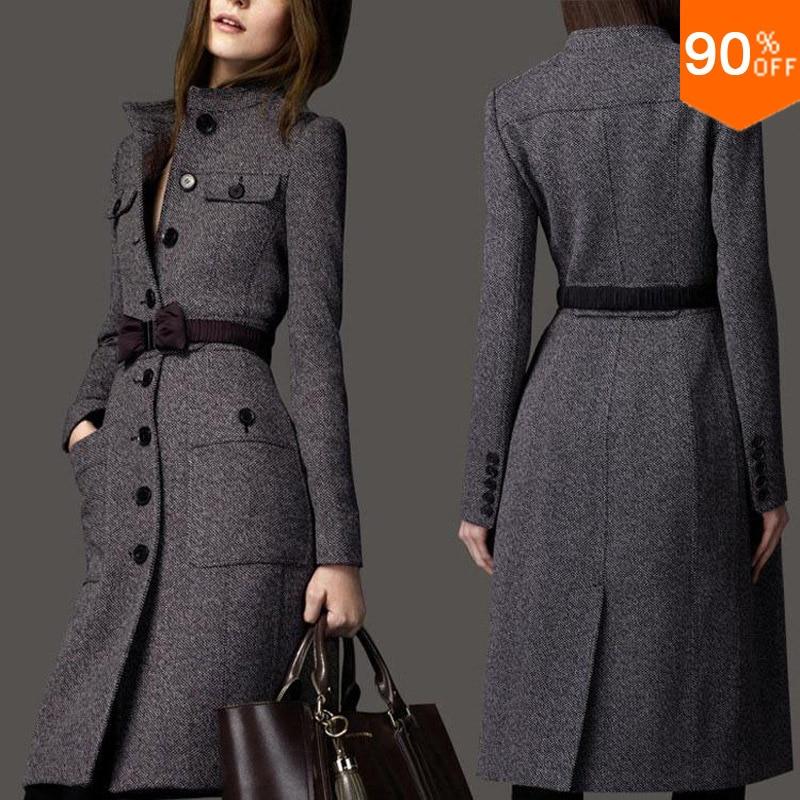 Nice Coat Wool Long Coat Winter Clothes Free Shipping