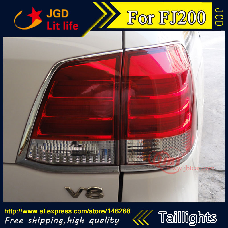 Car Styling tail lights for Toyota LAND CRUISER FJ200 2007-2012 LED Tail Lamp rear trunk lamp cover drl+signal+brake+reverse car rear trunk security shield cargo cover for toyota land cruiser lc200 2008 2017 black beige high qualit auto accessories