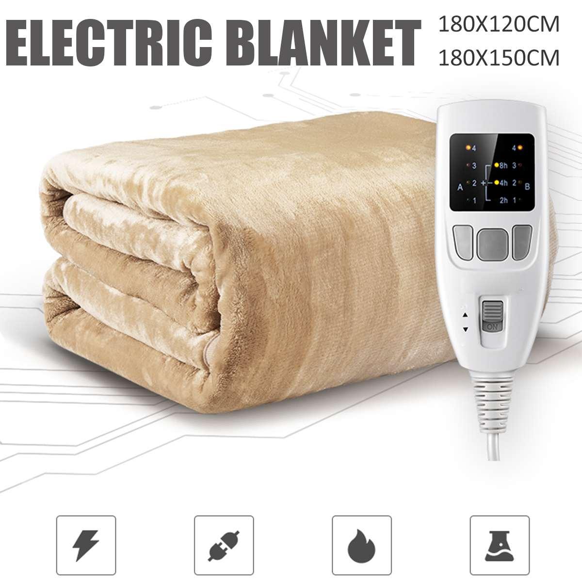 1.2/1.8M couverture électrique plus épais Double chauffages corps plus chaud lit couverture chauffante ménage électrique matelas doux tapis garder plus chaud