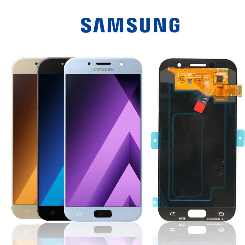 "Original 5.2"" Super AMOLED LCD for SAMSUNG Galaxy A5 2017 Display Touch Screen Digitizer A520 A520F SM-A520F Replacement Parts"