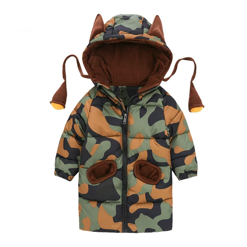 Baby Boy Jacket Autumn Winter Jacket For Boys Coat Kids Warm Hooded Outerwear Coat For Boys Clothes Camouflage Children Jacket