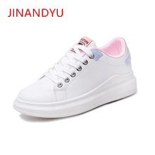 Womens Flat Casual White Shoes Woman Sneakers Chunky Trainers Spring New Comfortable Thick-soled Girl 2019
