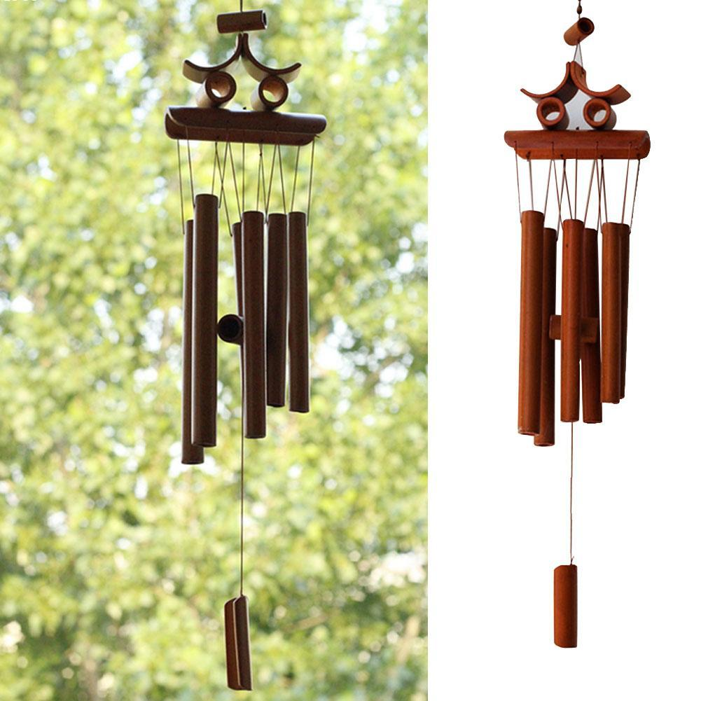 Vintage Home Decor Wind Chimes Windbell Wind Chime Aeolian Bells Wind Bell Wall Hanging Hand Made Bamboo Crafts Wholesale L45