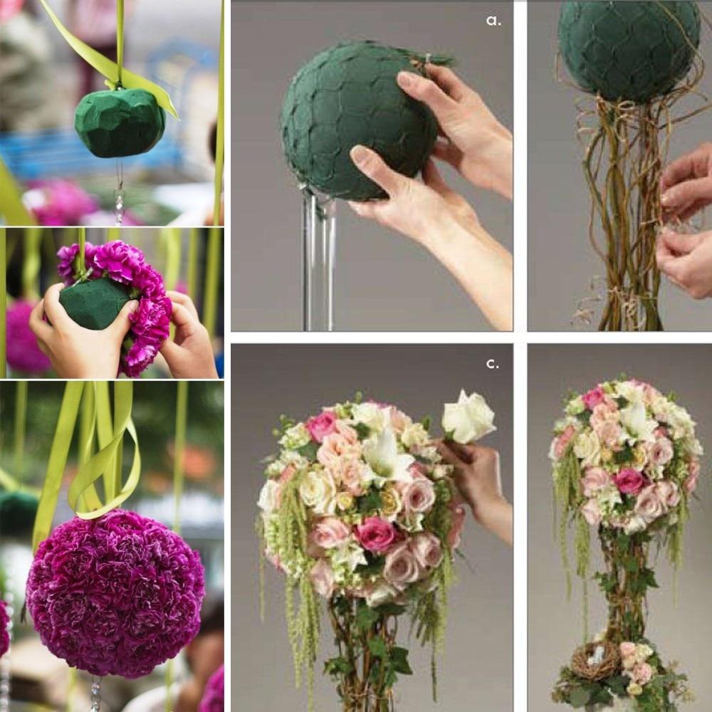 Round Ball Shape Inserting Dry Flower Holder Flower Mud