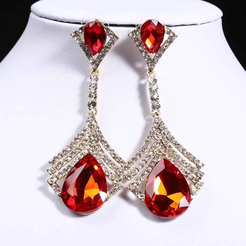 NPASON 2018 New Arrival Jewelery Austria Crystal Brand Design Wedding Jewelery Earrings Elegant Women Bride Earring High Quality