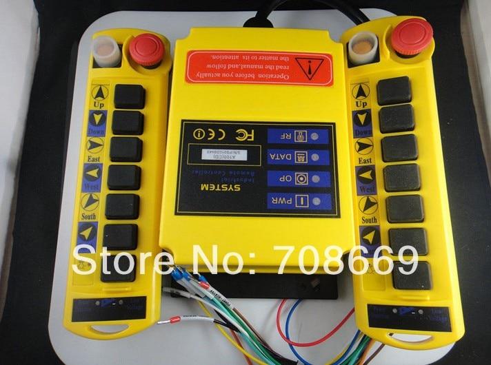 1 Speed 2 Transmitters 8 Channels Hoist Crane Radio Remote Control System A100